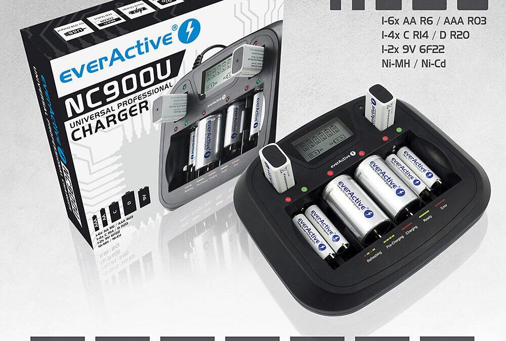 Ładowarka akumulatorków Ni-MH everActive NC-900U